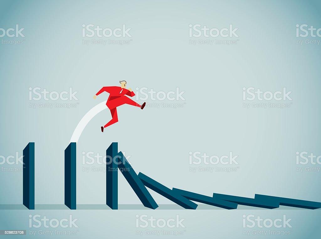 Conquering Adversity vector art illustration