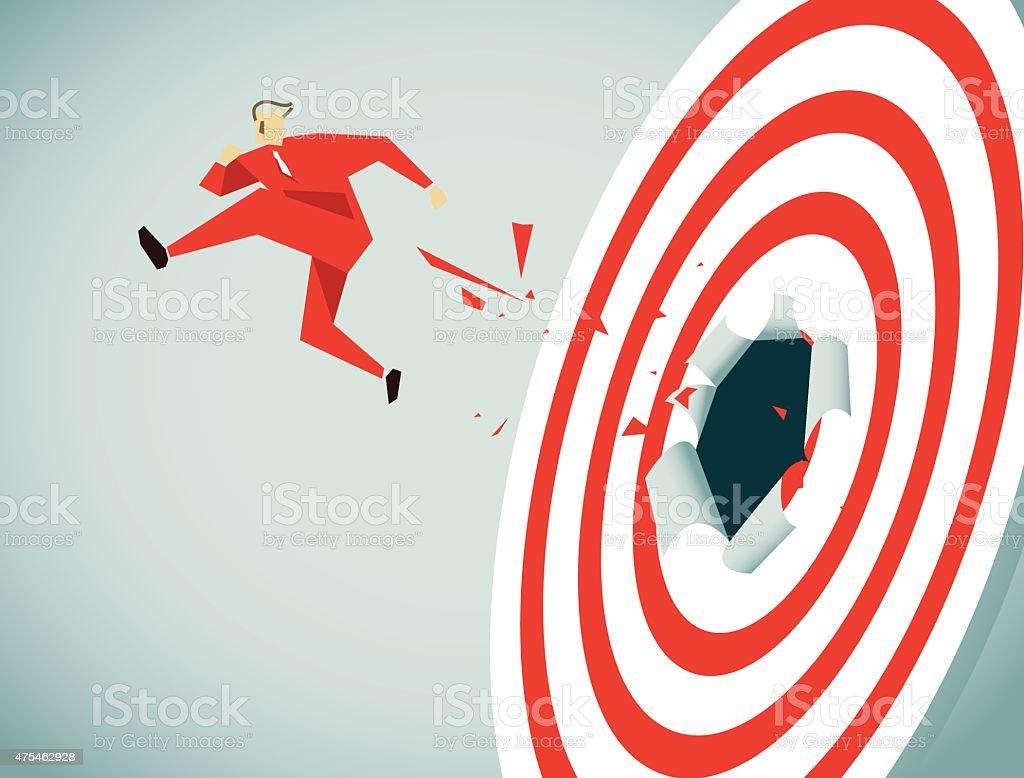 Conquering Adversity-Illustration vector art illustration
