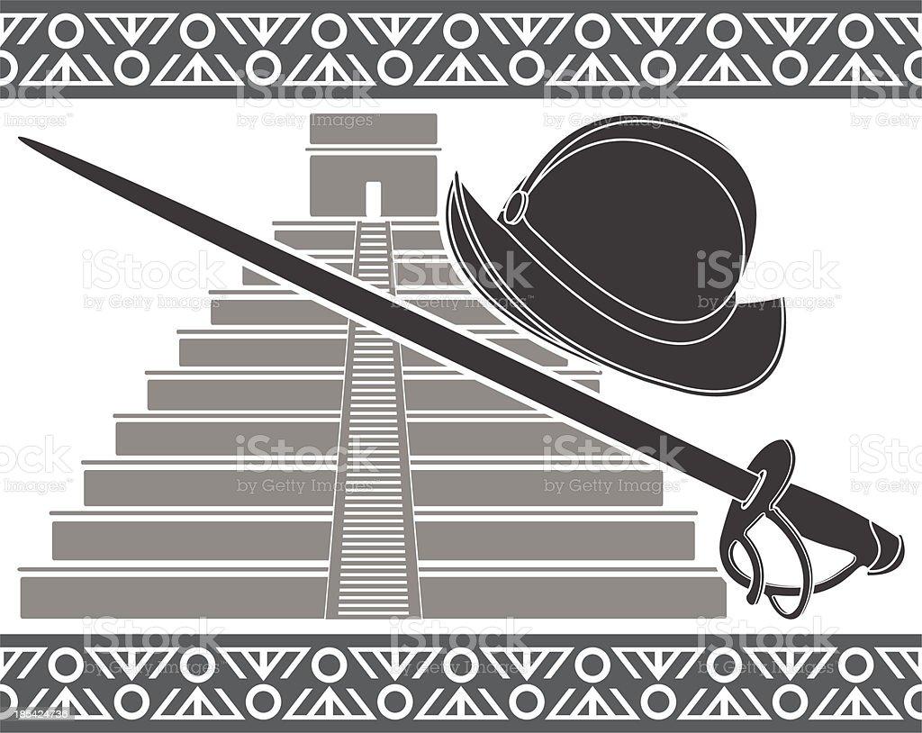 Conquista royalty-free stock vector art