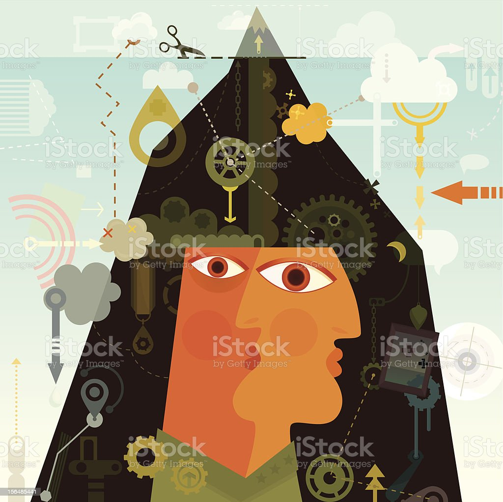 Conscious and Subconscious royalty-free stock vector art