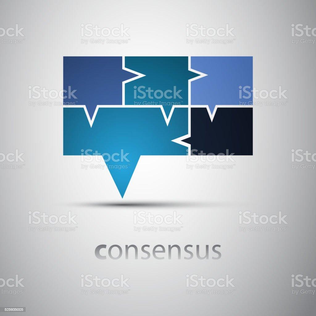 Consensus - Speech Bubble Concept vector art illustration