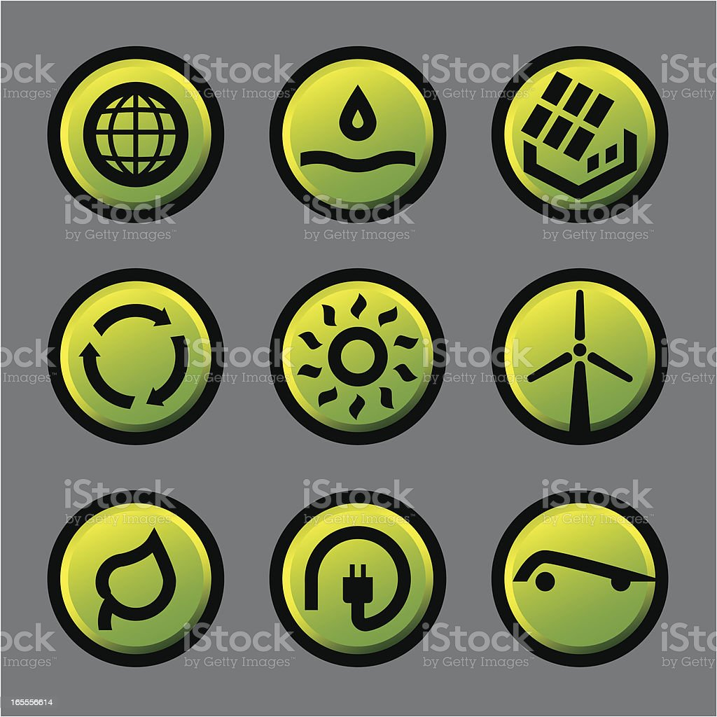 Conservation icons vector art illustration