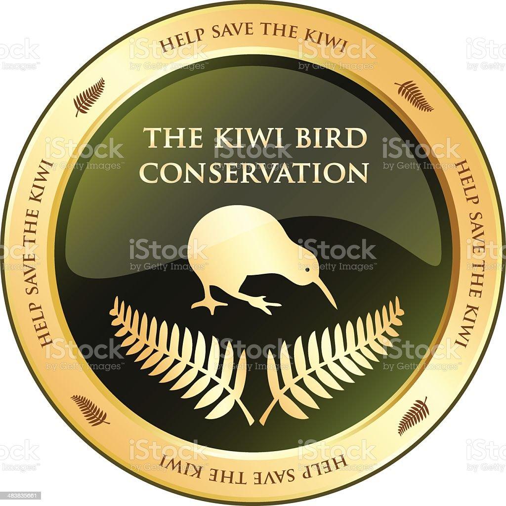 Conservation Of The Kiwi Bird vector art illustration