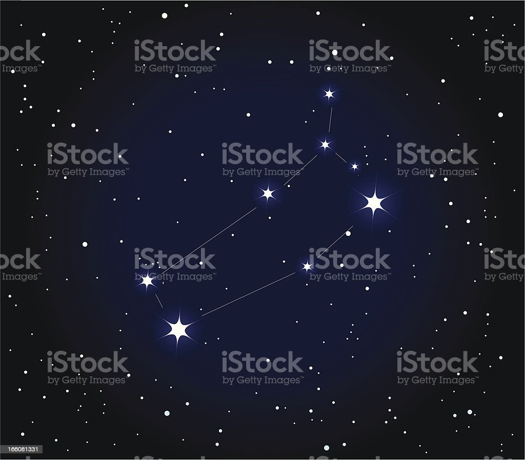 Constellation  Gemini royalty-free stock vector art
