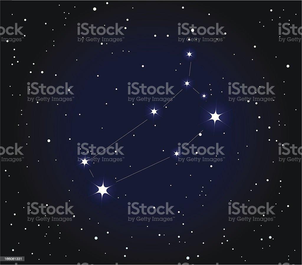 Constellation  Gemini vector art illustration
