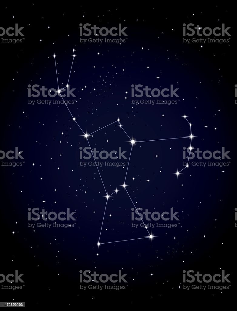 Constellation of Orion royalty-free stock vector art