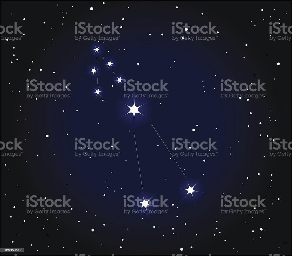 Constellation  Taurus royalty-free stock vector art