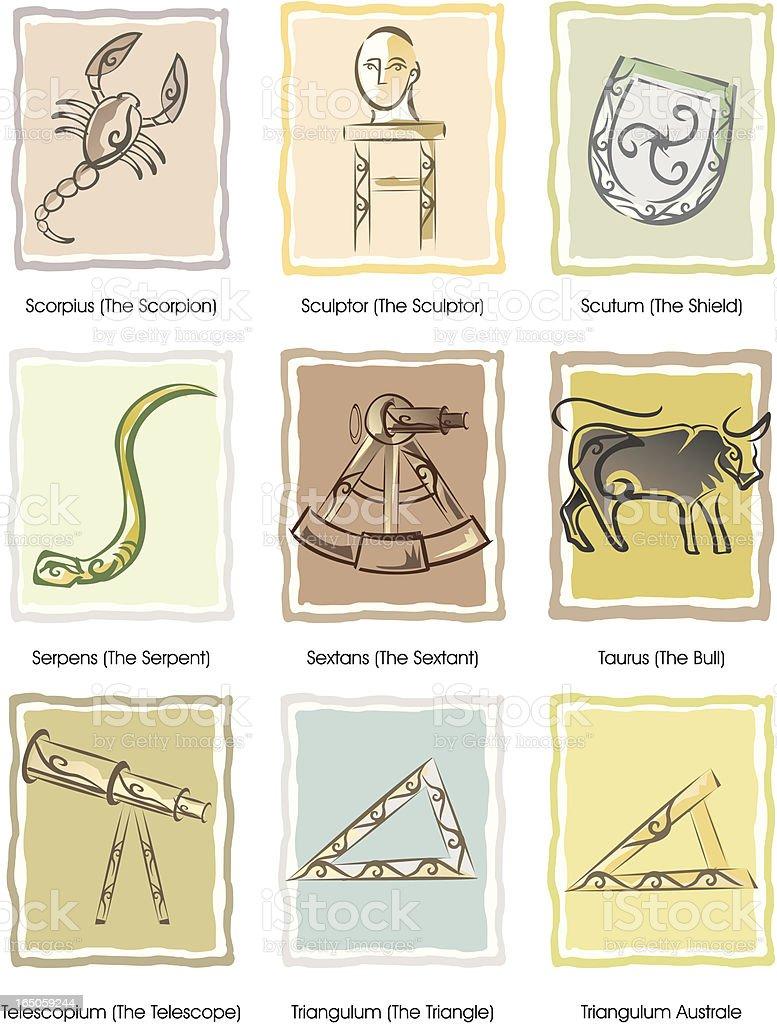 constellations symbols serie royalty-free stock vector art