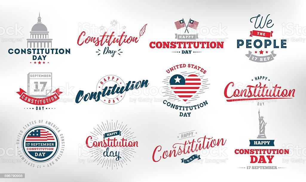 USA constitution day. 17 september. vector art illustration