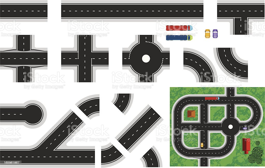 Construct-A-Road vector art illustration