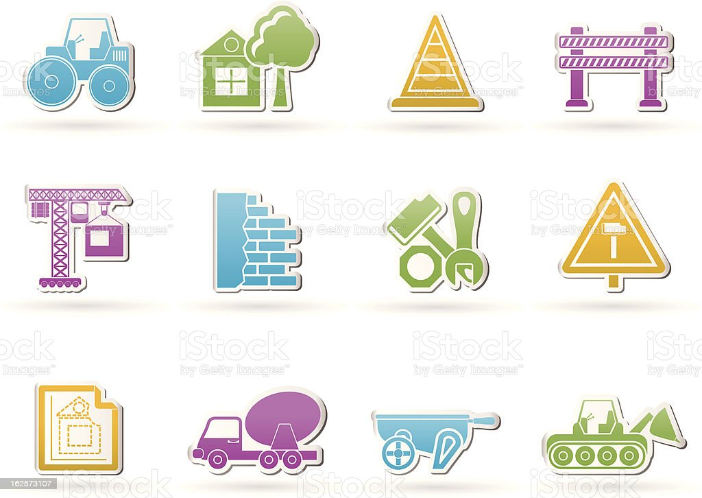 Construction and building Icons royalty-free stock vector art