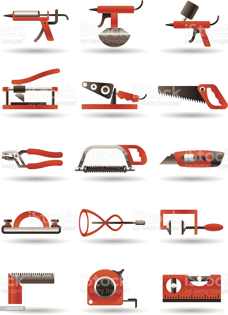 Construction and building manual tools royalty-free stock vector art