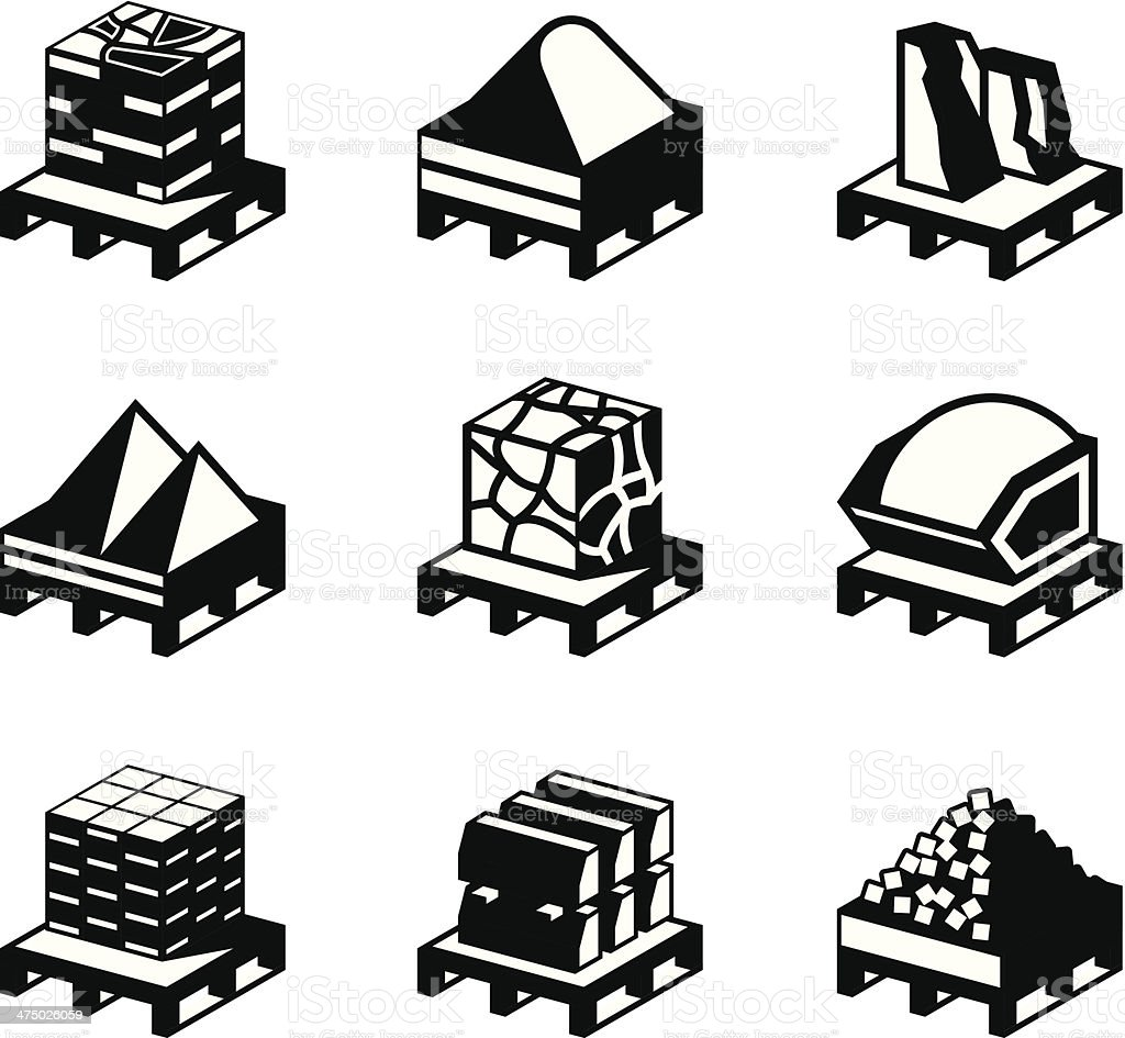 Construction and building materials vector art illustration