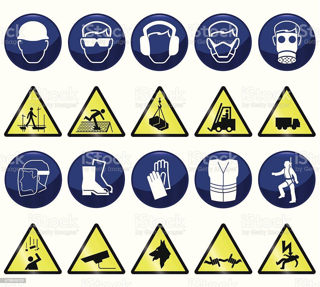 Construction and Hazard vector art illustration