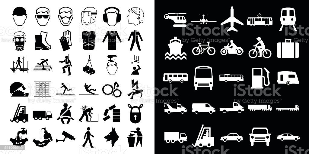 Construction and transport vector art illustration
