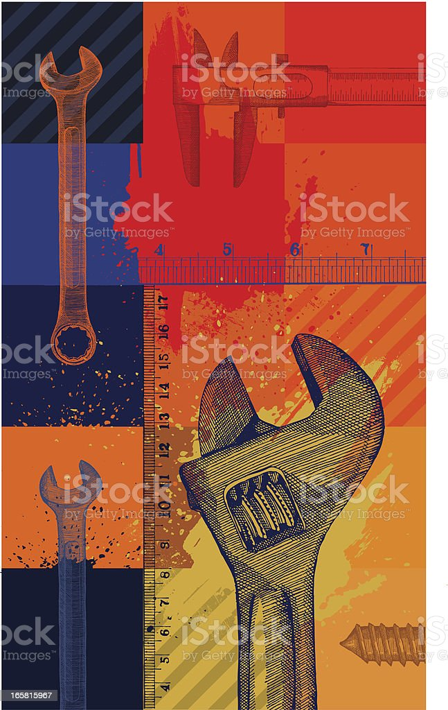Construction Background royalty-free stock vector art