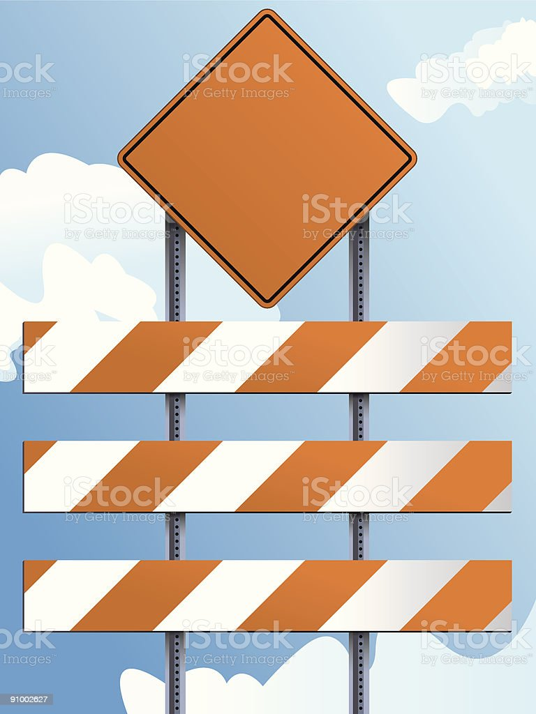 Construction Barricade 1 royalty-free stock vector art