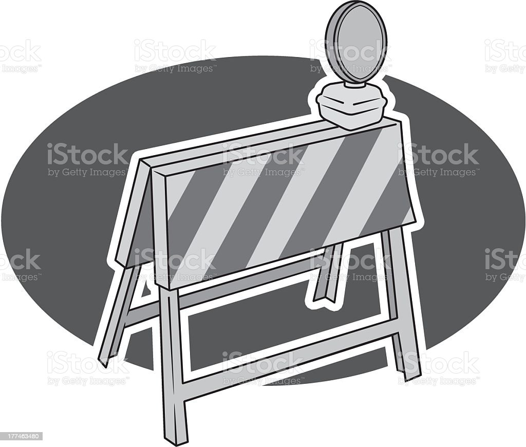 Construction Barrier royalty-free stock vector art