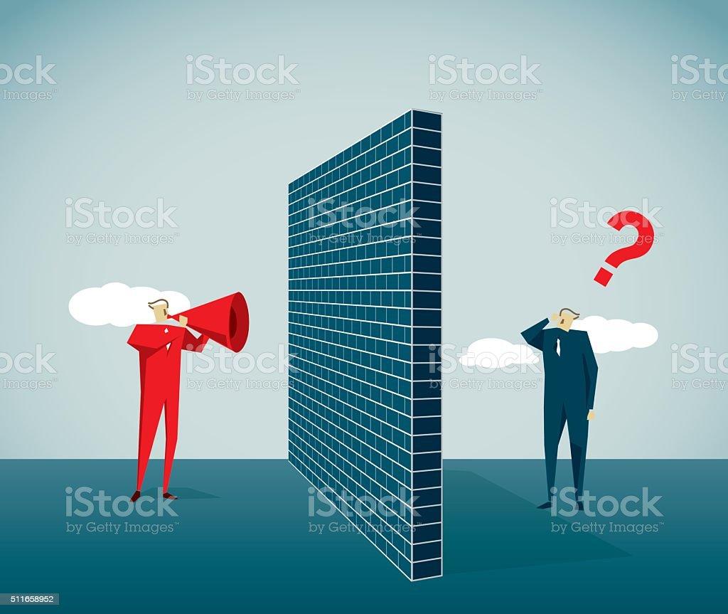 Construction Barrier vector art illustration