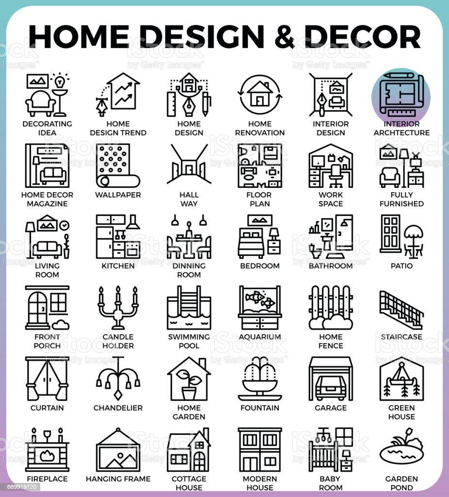 Construction & Buildings icons vector art illustration