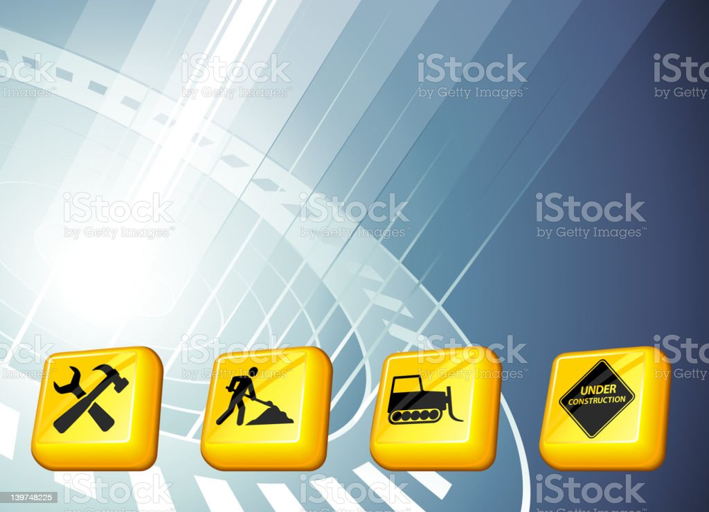construction buttons on modern lights Background royalty-free stock vector art