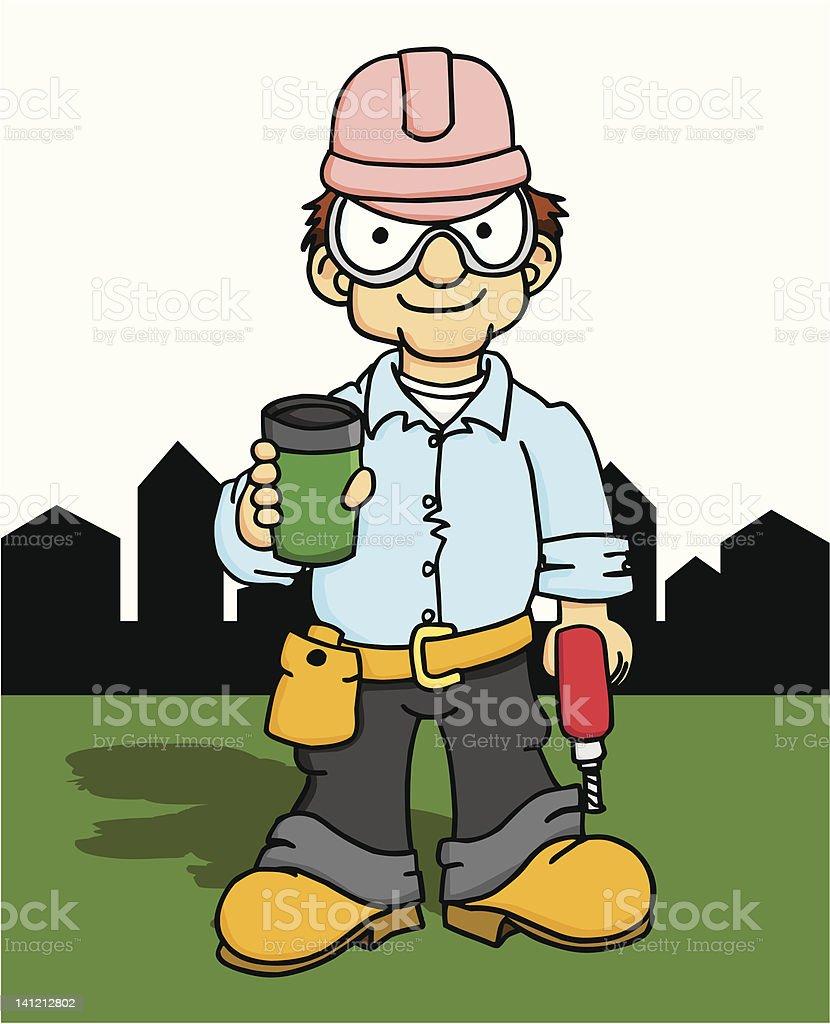 Construction Coffee Break 1 royalty-free stock vector art