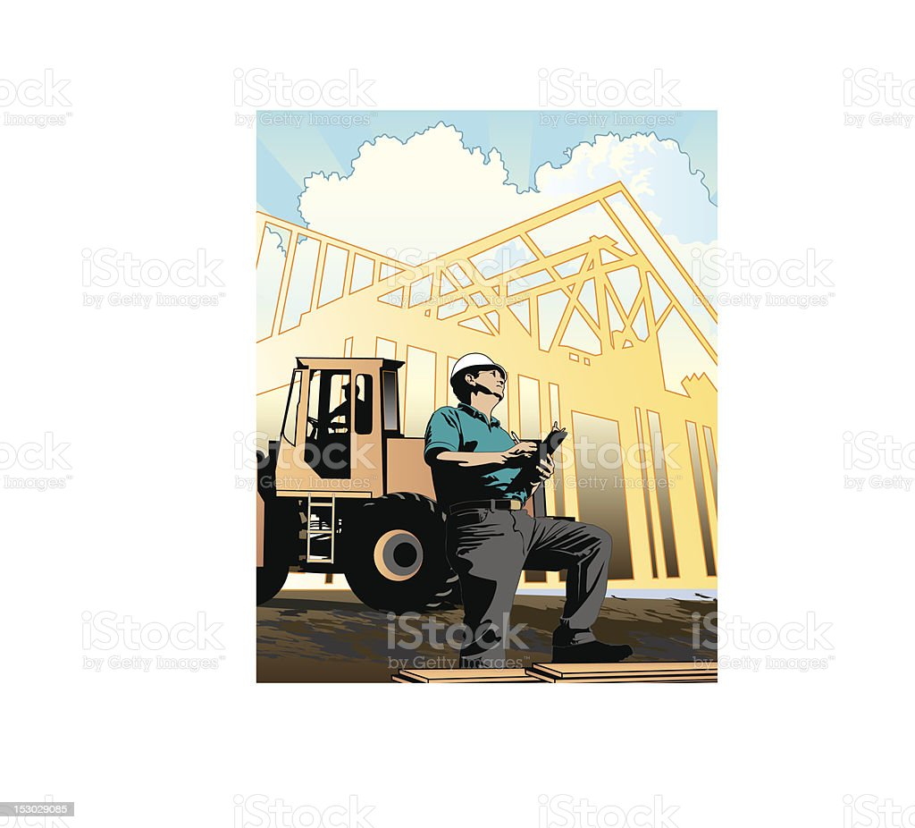 Construction: Contractor / Engineer royalty-free stock vector art