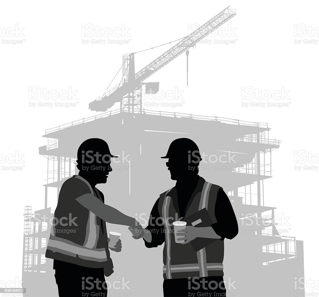 Construction Contracts vector art illustration
