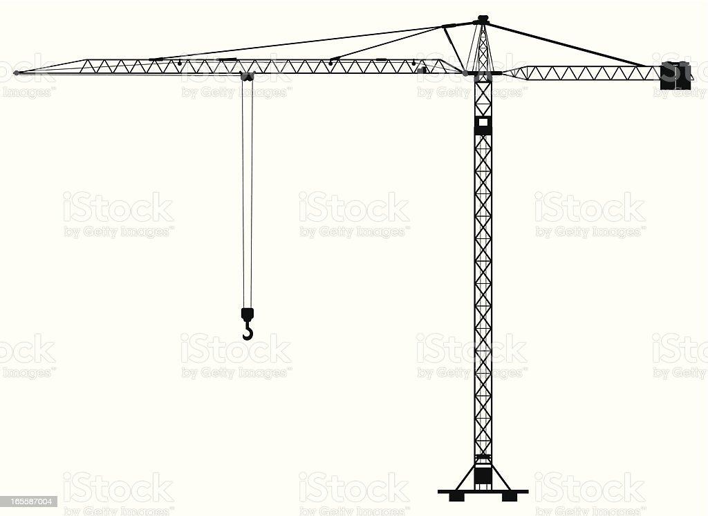construction crane vector art illustration