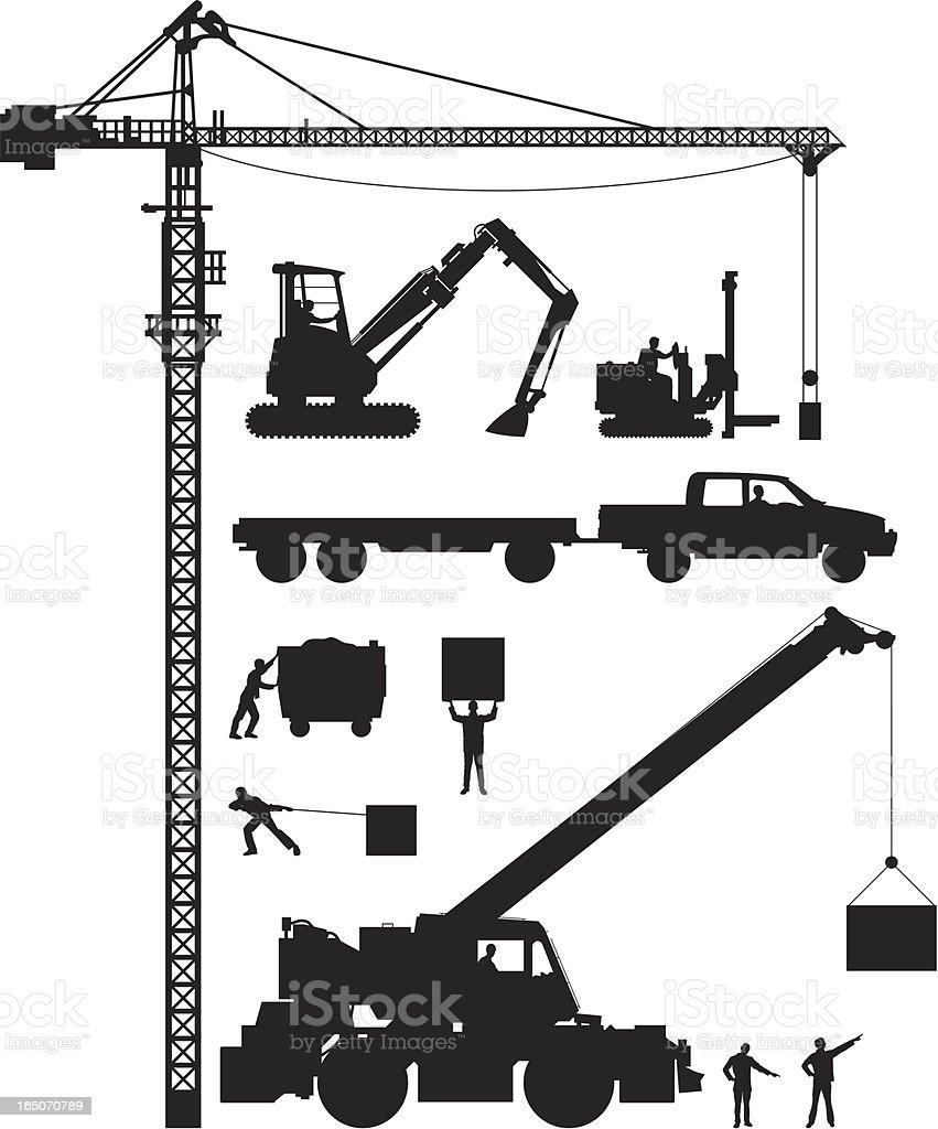 Construction Elements vector art illustration