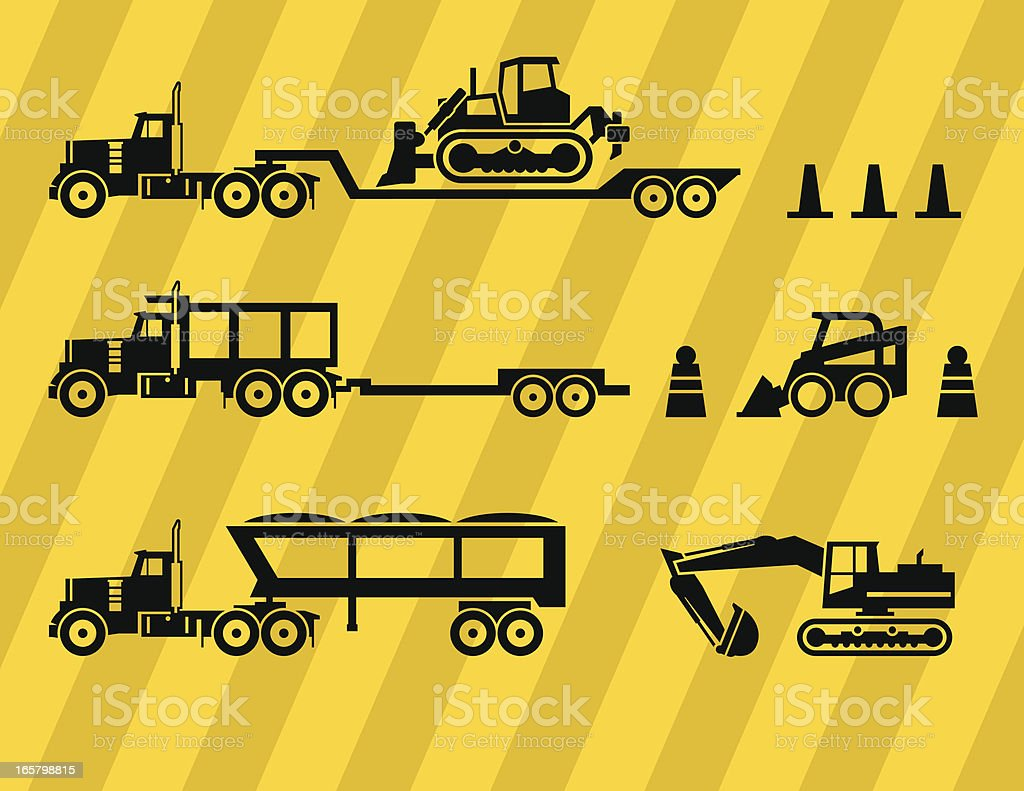 Construction Equipment Icons royalty-free stock vector art
