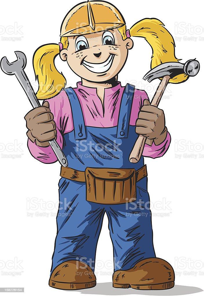 Construction girl royalty-free stock vector art