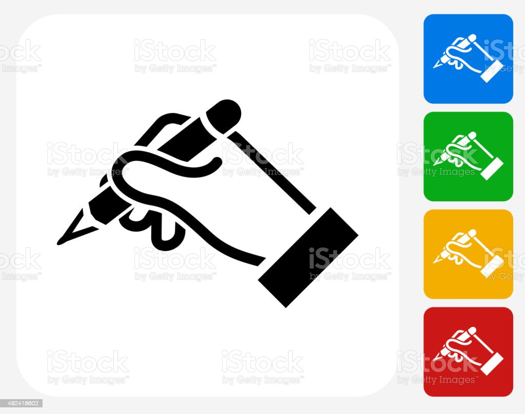 Construction Hands Icon Flat Graphic Design vector art illustration
