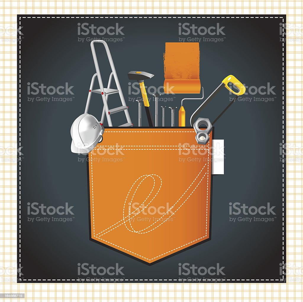 construction happy royalty-free stock vector art