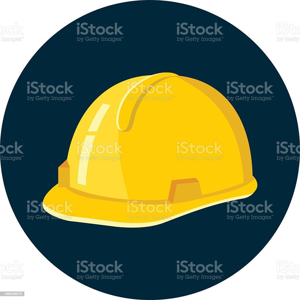 Construction Helmet vector art illustration