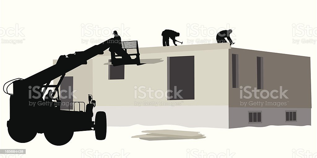 Construction Hoist Vector Silhouette royalty-free stock vector art