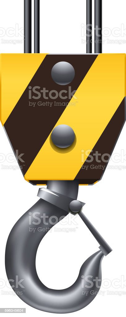 construction hook on white vector art illustration