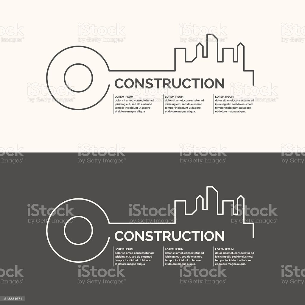 Construction houses background. vector art illustration