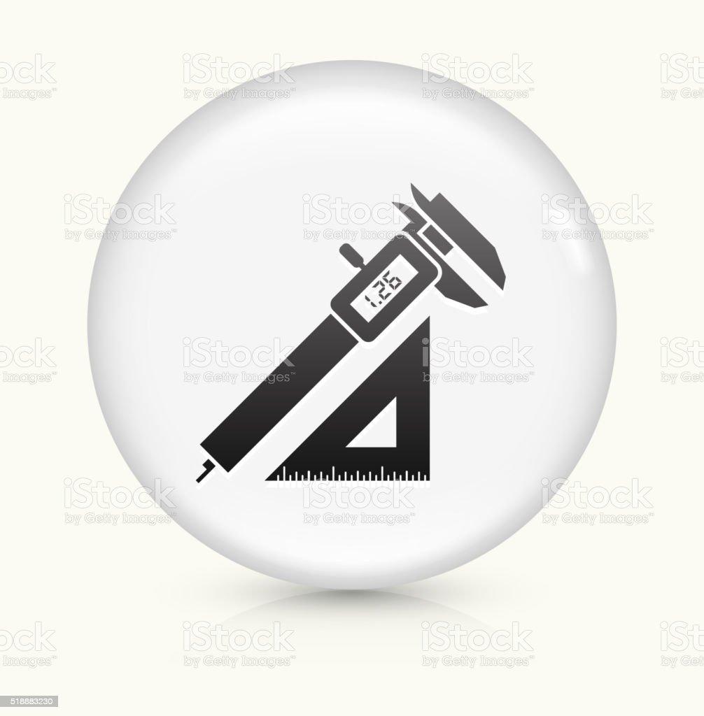 Construction icon on white round vector button vector art illustration