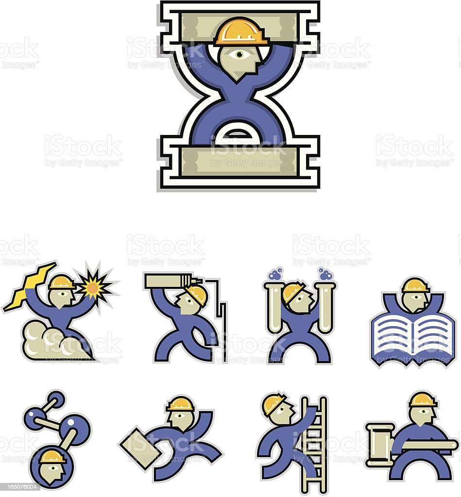Construction icon set laboratory royalty-free stock vector art