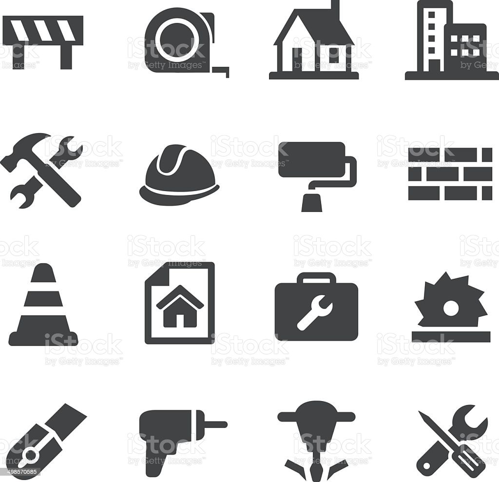 Construction Icons - Acme Series vector art illustration