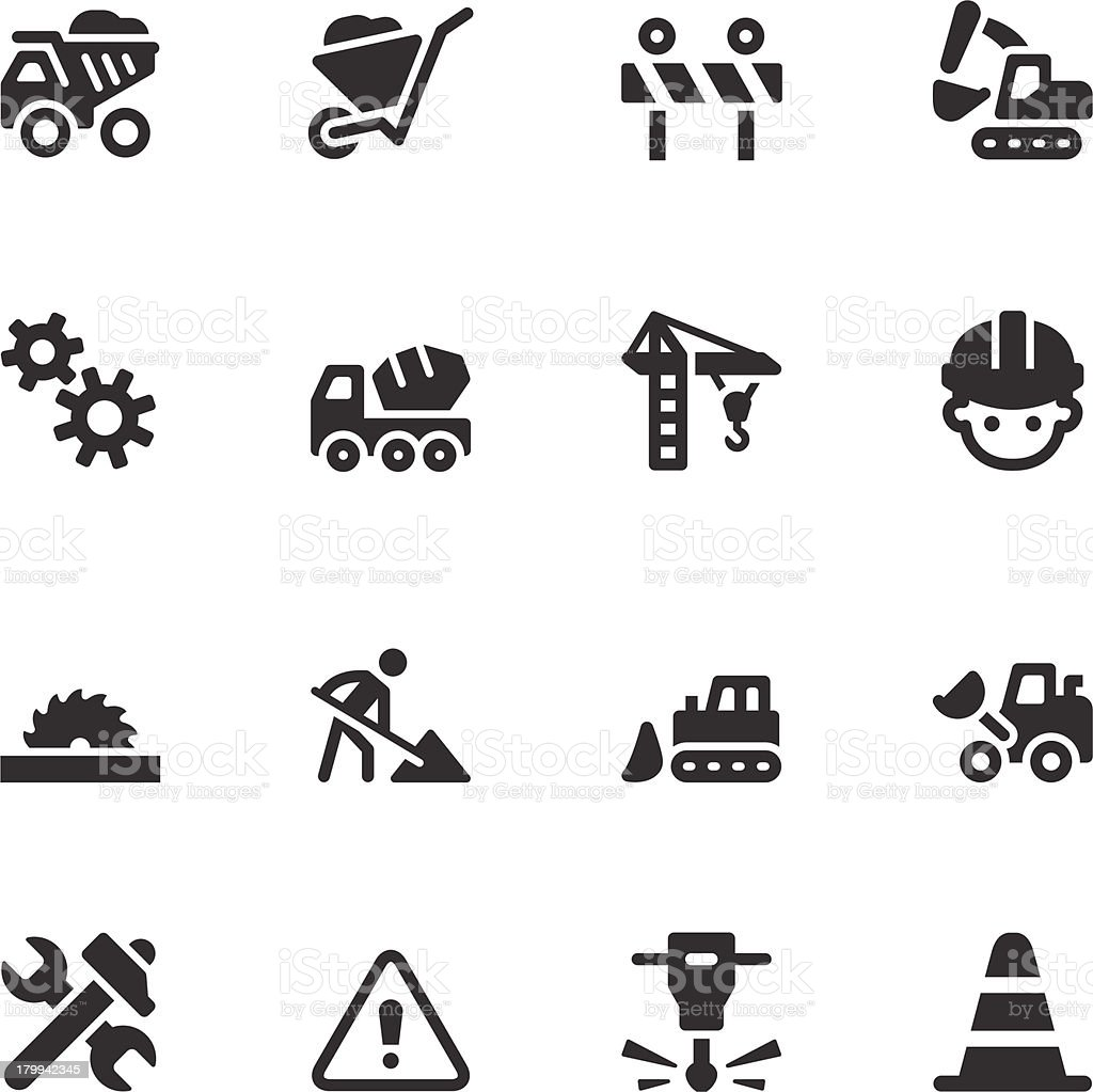 Construction Icons - Black Series royalty-free stock vector art