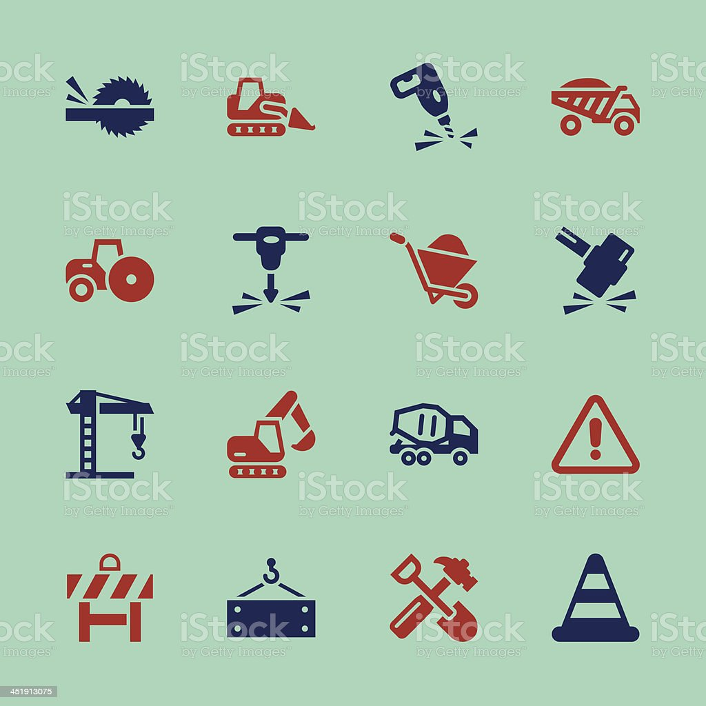 Construction Icons - Color Series   EPS10 royalty-free stock vector art