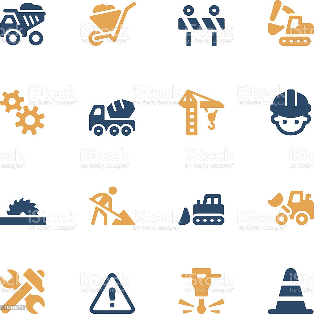 Construction Icons - Color Series vector art illustration