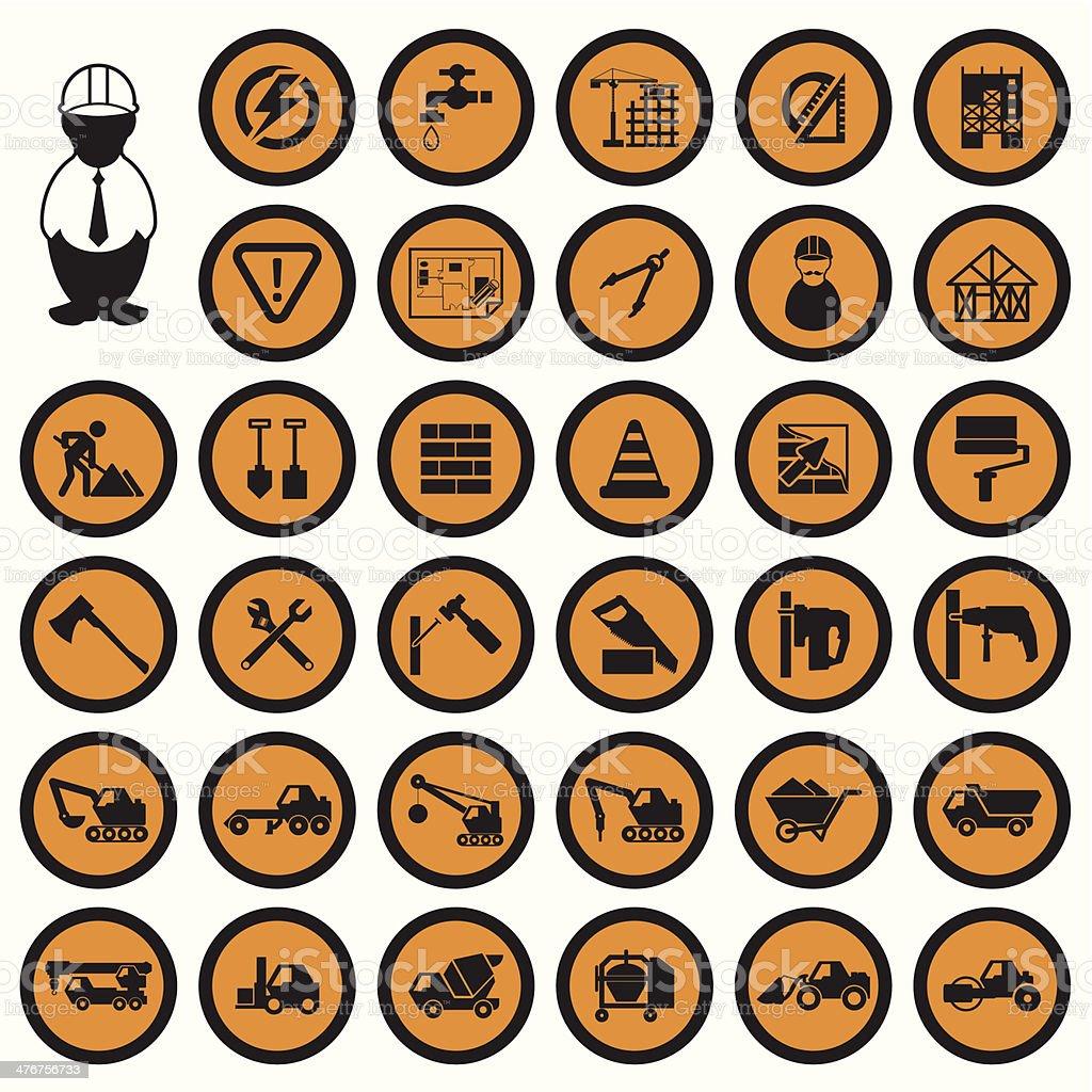 Construction Icons set royalty-free stock vector art
