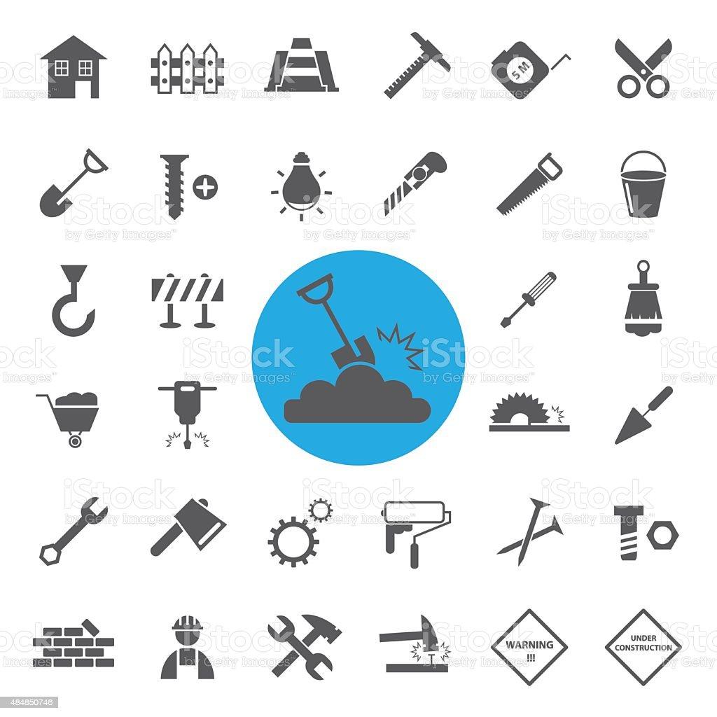 Construction Icons set.vector vector art illustration