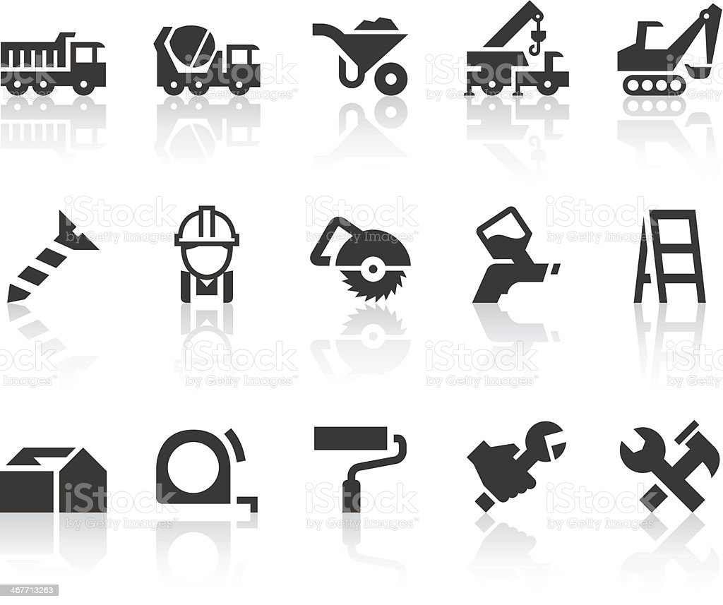 Construction Icons | Simple Black Series vector art illustration
