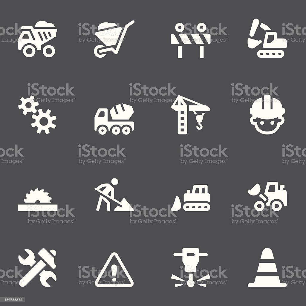 Construction Icons - White Series royalty-free stock vector art