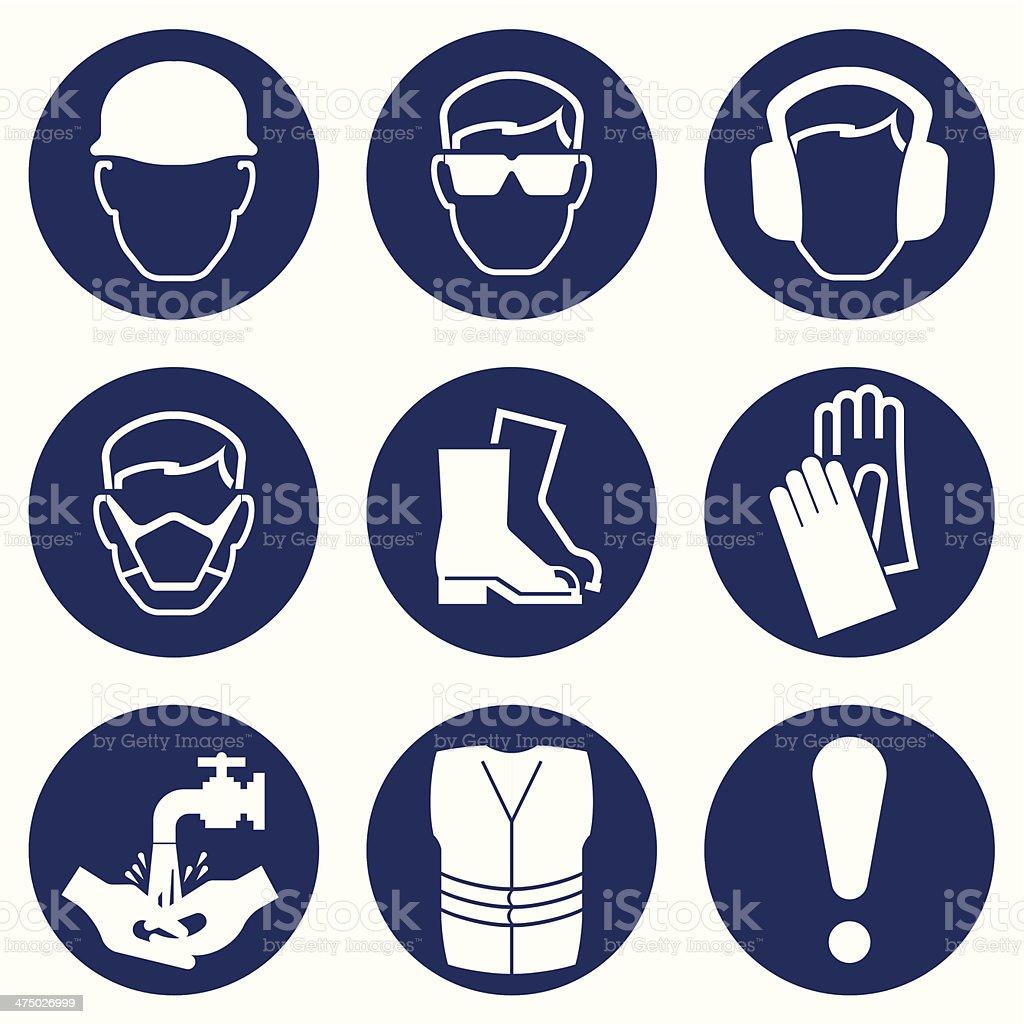 Construction Industry Icons vector art illustration