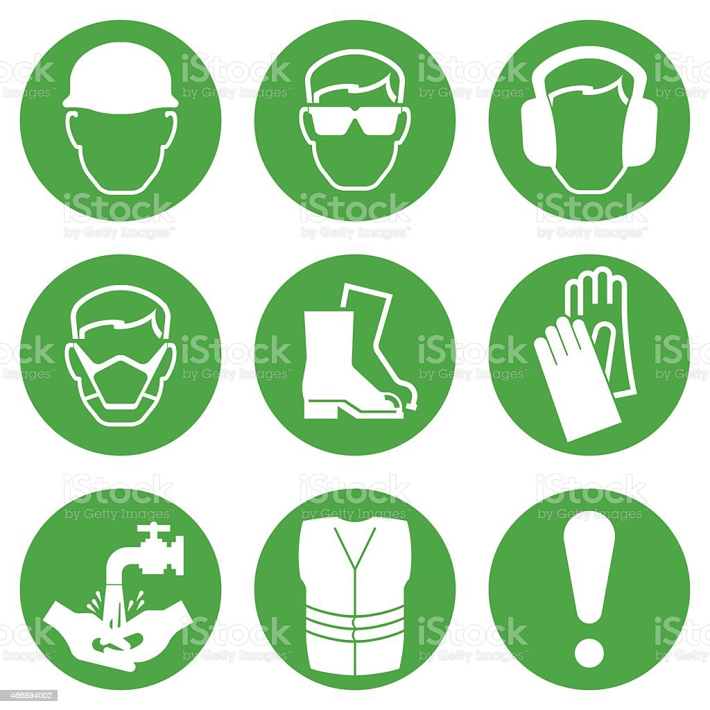 Construction industry illustrated icons vector art illustration